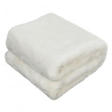 Kožešinová deka, bílá, 150x180, Rabita NEW TYP 7