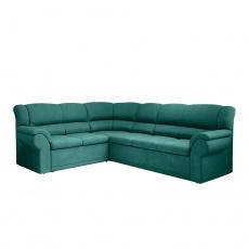 Rohová rozkládací sedací souprava, smaragdová, levá, AMELIA