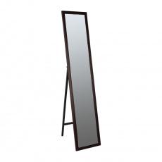 Zrcadlo, dřevěný rám hnědé barvy, Malkia TYP 4