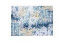 Koberec, modrá/šedá / žlutá 80x200, MARION TYP 1