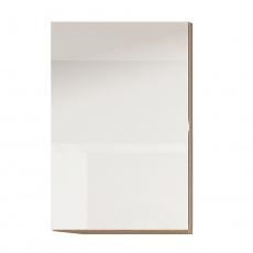 Skříňka horní G 30, vysoký bílý lesk/dub sonoma, LINE