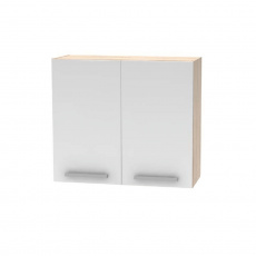 Horní skříňka 2DV, dub sonoma / bílá, NOPL-014-OH