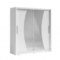 Skříň s posuvnými dveřmi, bílá, BIRGAMO TYP 2