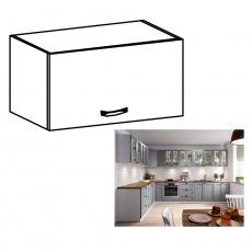 Horní skříňka, bílá / šedá matná, LAYLA G50K