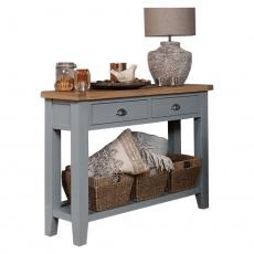 Konzolový stolek, šedá/světlý ořech, JEREVAN