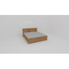 VARIO, zvýšené dvoulůžko s úložným prostorem, polohovacími rošty, 180 x 200, dub Harmony