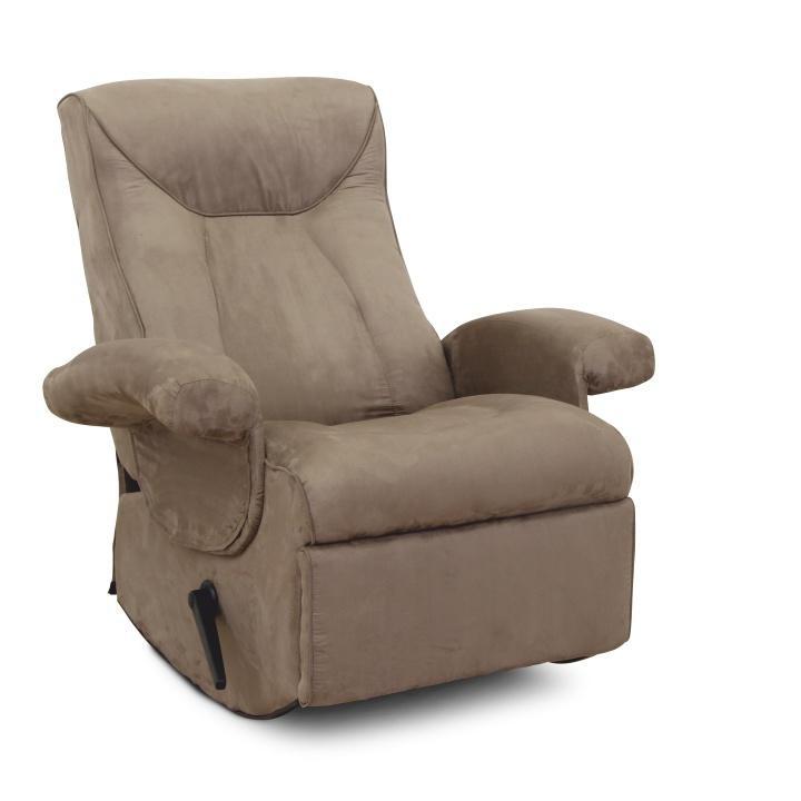 Relaxační křeslo, s elektrickou funkcí vibrování, šedohnědá látka, SUAREZ