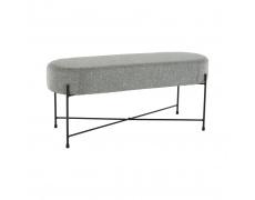 Designová lavice, šedá / černá, MATIR