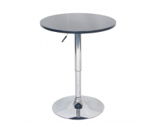 Barový stůl s nastavitelnou výškou, černá, BRANY NEW