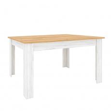 Jídelní stůl, rozkládací, dub craft zlatý/dub craft bílý, SUDBURY