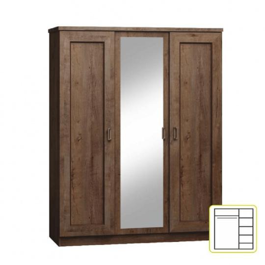 Kombinovaná skříň, dub lefkas, TEDY TYP T15