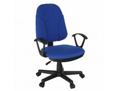 Kancelářská židle, modrá látka, DEVRI