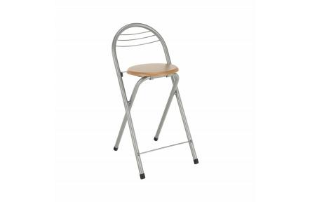 Barová židle, buk/chrom, BOXER