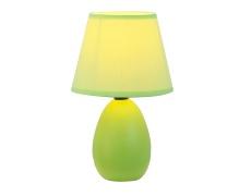 Keramická stolní lampa, zelená, QENNY TYP 13