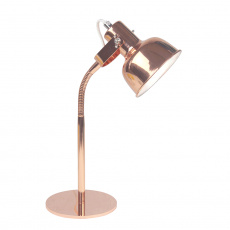 Stolní lampa v retro stylu, kov, rose gold, AVIER TYP 1
