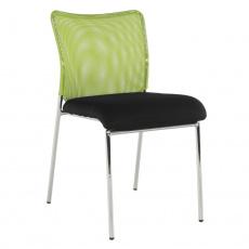 Zasedací židle, zelená/černá/chrom,ALTAN
