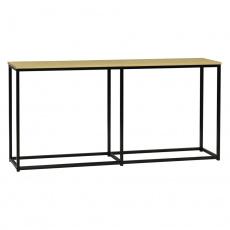 Konzolový stolek v industriálním stylu, dub / černá, BUSTA