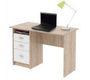PC stůl, dub sonoma / bílá, SAMSON NEW