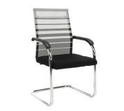 Zasedací stolička, šedá / černá, ESIN