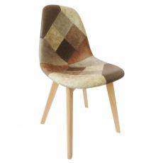 Jídelní židle, patchwork/buk, SALEVA