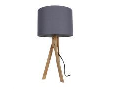 Stolní lampa, šedá / přírodní dřevo, LILA Typ 2