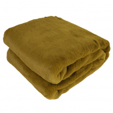Kožešinová deka, zelená-greenery, 150x180, Rabita NEW TYP 8