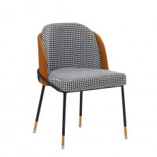Jídelní židle, černobílá vzor / camel ekokůže, KIRNA