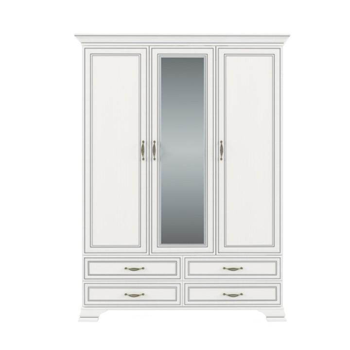 Skříň se zrcadlem 3D4S, DTD laminovaná, woodline krem, TIFFY 01