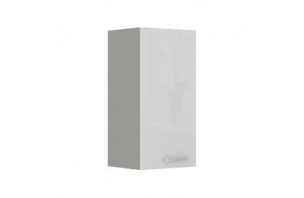 Skříňka horní, bílá vysoký lesk, PRADO 40G-72 1F