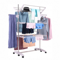Sušák na prádlo, bílá, DENAL