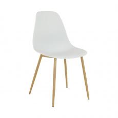 Židle, bílá / přírodní, SINTIA