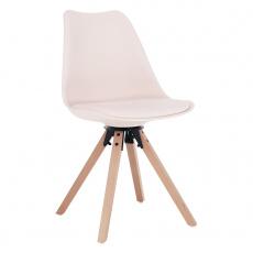 Stylová otočná židle, perlová, ETOSA
