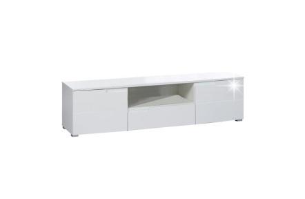 RTV stolek, bílá extra vysoký lesk, SPICE