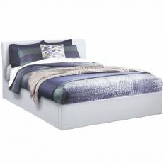 Manželská postel s úložným prostorem, bílá, 160x200, KERALA
