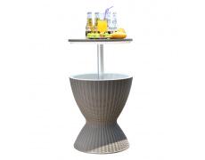 Zahradní chladící stolek, šedá, FABIR