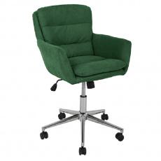 Kancelářské křeslo, látka smaragdová, KAILA