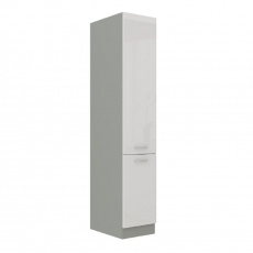 Skříňka potravinová vysoká, bílá vysoký lesk, PRADO 40 DK-210 2F