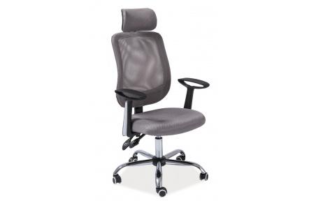 Kancelářská židle Q118 šedá