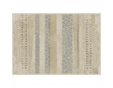 Koberec, béžová / vzor, 100x140, AVALON