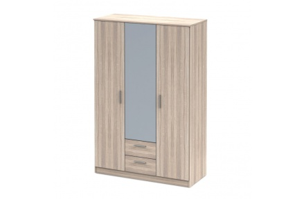 Třídveřová skříň se zrcadlem, dub sonoma NOKO-SINGA 82