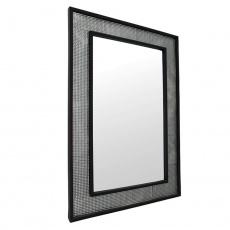 Zrcadlo, stříbrná / černá, ELISON TYP 9