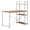 PC stůl / víceúčelový praktický stůl, dub / bílá, VEINA