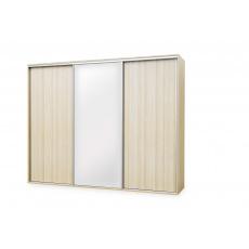 Skříň FLEXI 3 : 2x dveře plné , 1x zrcadlo - z letáku LTD: Dub Grande