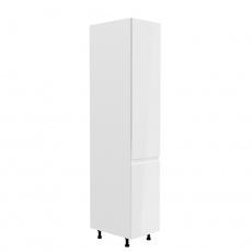 Potravinová skříňka, bílá / bílá extra vysoký lesk, pravá, AURORA D40SP
