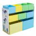 Organizér / regál na hračky, vícebarevná / vzor, NOMITO TYP 2
