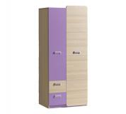 Věšáková skříň, jasan/fialová, EGO L1