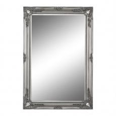 Zrcadlo, stříbrný dřevěný rám, MALKIA TYP 7