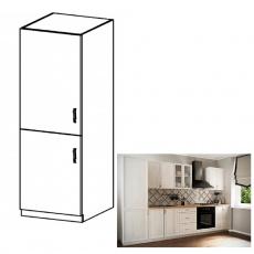 Skříňka na vestavěnou lednici D60ZL, levá, bíla/sosna Andersen, SICILIA