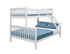 Patrová rozložitelná postel, bílá, BAGIRA