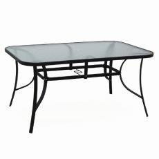 Jídelní stůl, tvrzené sklo/ocel, PASTER